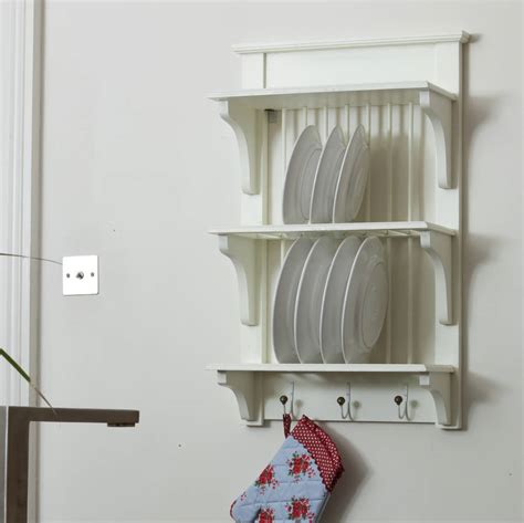 cabinet hanger wall plate wooden painted plate rack wall unit by the orchard
