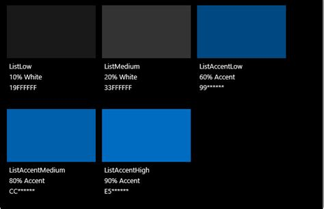 exploit themes u design color uwp app developer microsoft docs