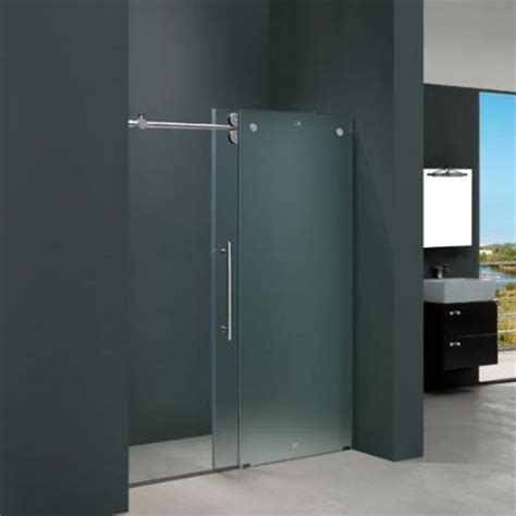 60 Inch Shower Doors Vigo Vg6041chmt6074l Vigo 60 Inch Frameless Shower Door 37 Frosted Glass Chrome Hardware