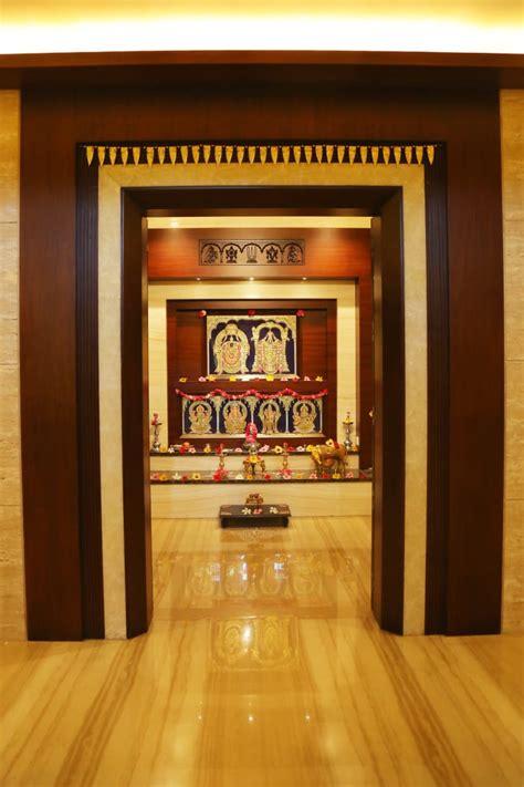 wooden furnished prayer room  keerthi ravikumar