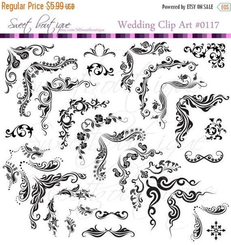 Clipart Wedding Embellishments by Sale 28 Digital Frames Clip Corners