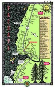 yachats oregon map interactive yachats map