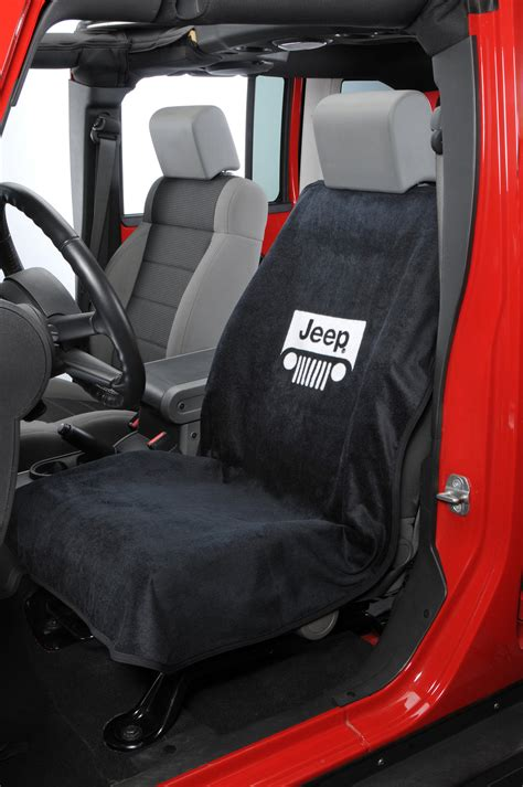 jeep seat towel insync seat armour jeep 174 grille logo seat towels quadratec
