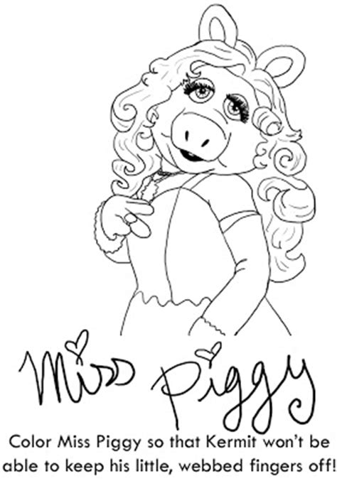 J Nie Le Dbre D December 2009 Miss Piggy Coloring Pages