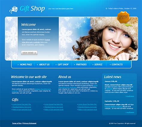 Gift Shop Web Template 4193 Beauty Fashion Website Templates Dreamtemplate Apparel Website Templates