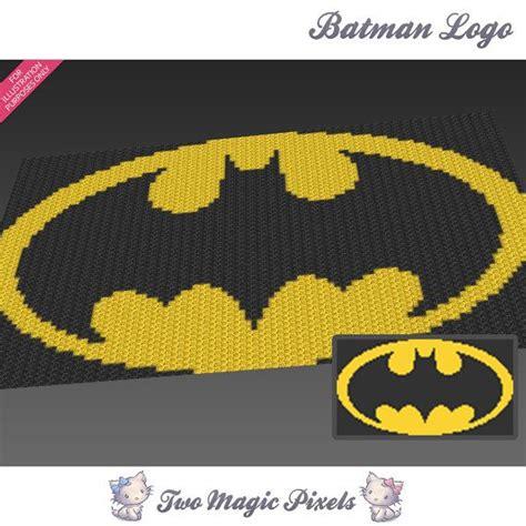 crochet pattern logos batman logo c2c graph crochet pattern instant by