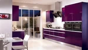 Kitchen Colour Design Ideas Modern Kitchen With Purple Color D S Furniture