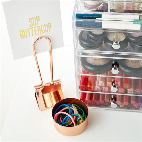 doodles wire desk collection copper magnetic desk set the container store