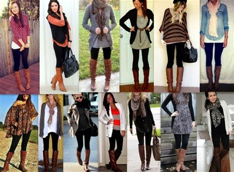 black leggins brown boots pretty much what i want to