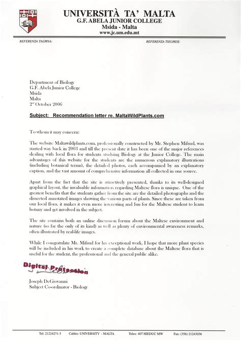 College Letter Of Recommendation From Relative College Letter Of Recommendation Sle Page 2