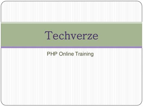 online tutorial for php php online training