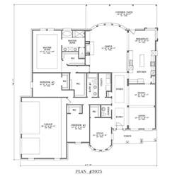 single story house plans design interior cottage dual master bedroom