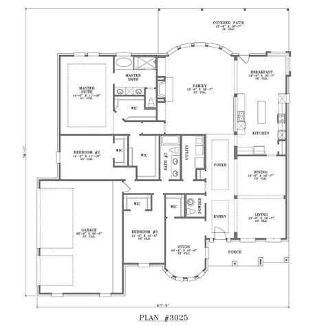 one story house floor plan 3001 3500 s f