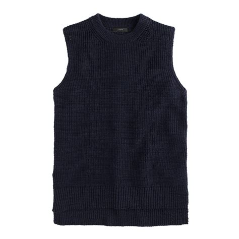 j crew sleeveless sweater shell in blue lyst