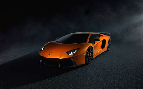 Lamborghini Aventador In Orange Lamborghini Aventador Lp700 4 Orange Wallpapers Hd