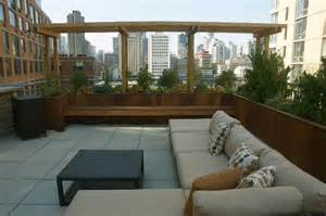 Roosevelt island rooftop terrace urban landscape design new york