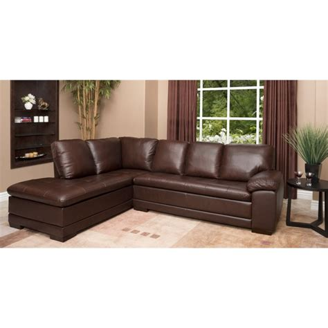 abbyson living sectionals abbyson living parker leather left facing sectional in