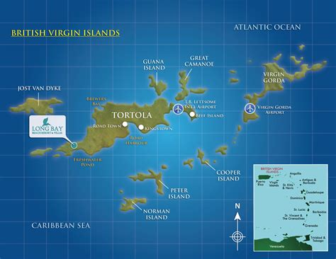 bvi map bay located on islands caribbean resort map tortola vacations