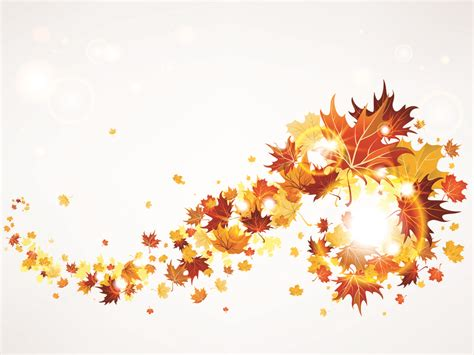 Flying Autumn Leaves Backgrounds For Powerpoint Nature Ppt Templates Free Fall Powerpoint Templates