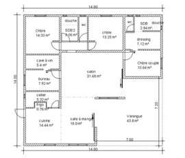 plan plain pied gratuit 4 chambres 11 plan