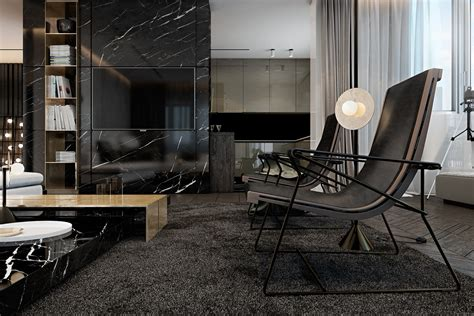 dark living rooms three luxurious apartments with dark modern interiors