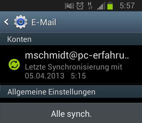 konto gepfã ndet wann wieder automatischer e mail abruf mit android 4 1 2 samsung