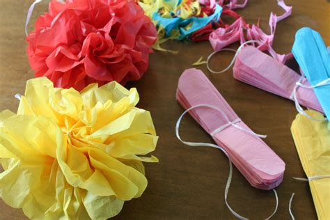 How To Make Mexican Flowers Out Of Tissue Paper - paint the gown