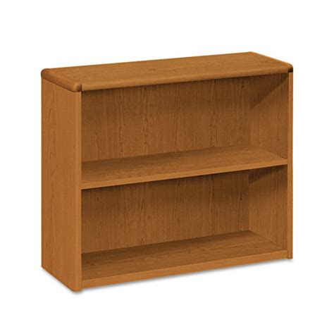 hon 10700 series 10752 laminate small bookcase 2 shelves