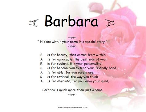 meaning in barbara name meaning quotes quotesgram
