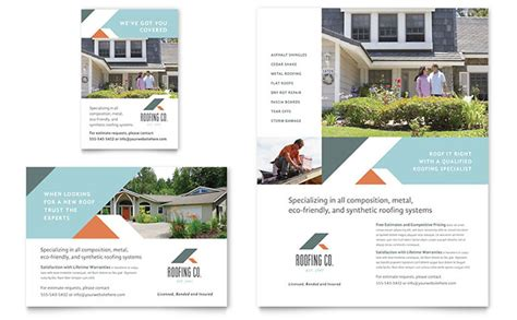 leaflet design in sinhala roofing company flyer ad template design