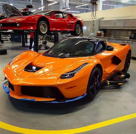 purple laferrari shocking orange laferrari shows up with purple carbon and