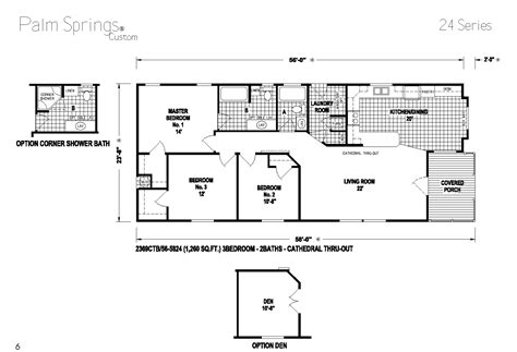 skyline mobile homes floor plans palm springs series 5starhomes manufactured homes