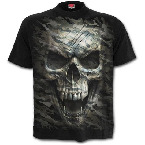 Skull The Shirt mens camo skull t shirt black shop from spiral