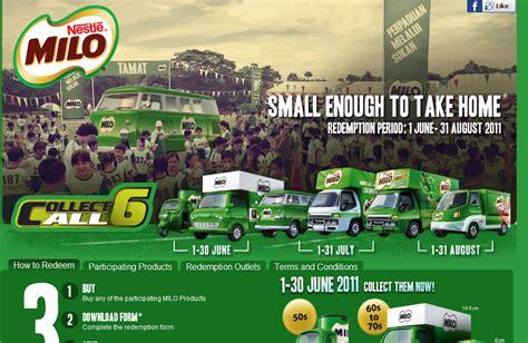 Milo Malaysia Malaysia Contest Collect All 6 Collectible Milo Mini Vans