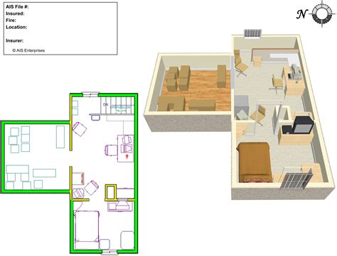 complete 2d and 3d plan of a low cost residential building