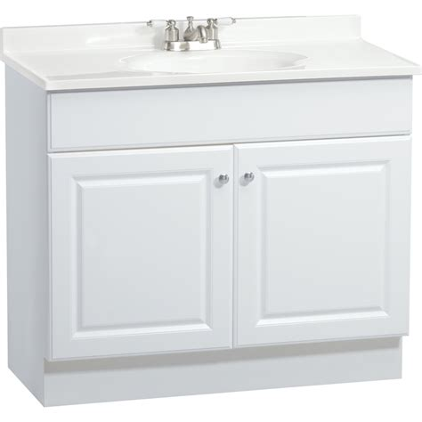White Sink Vanity by Shop Project Source White Integrated Single Sink Bathroom