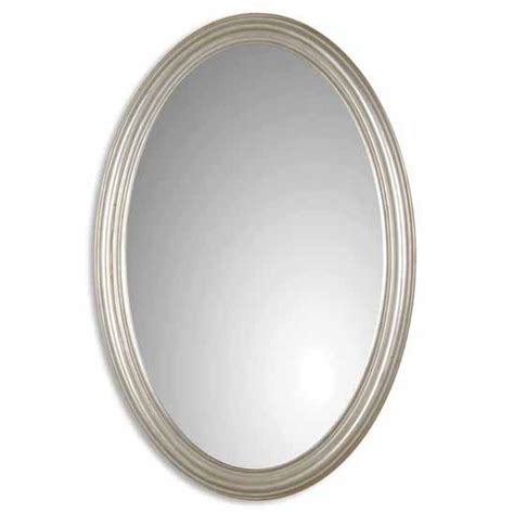 bathroom oval mirror uttermost franklin oval silver mirror