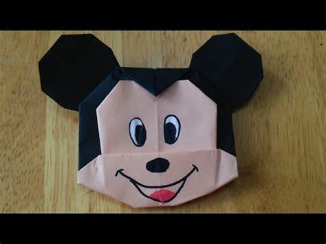 Mickey Mouse Origami - 折り紙 簡単 カワイイ ディズニーキャラクター の折り方 作り方 naver まとめ
