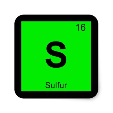 Periodic Table Sulfur by 17 Sulfur Symbol Stickers And Sulfur Symbol Sticker Designs Zazzle