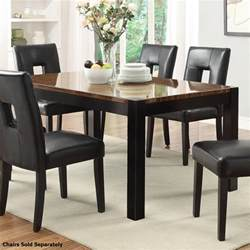 coaster 103611 black wood dining table a sofa
