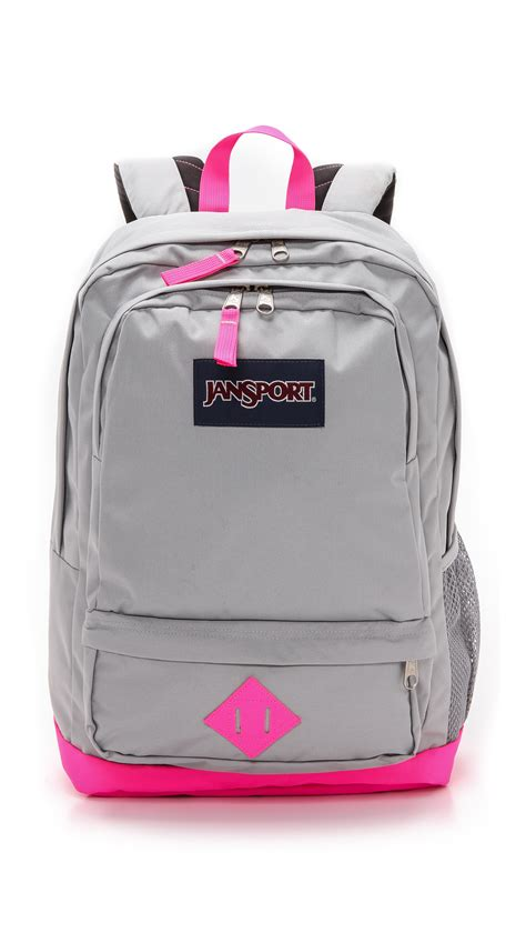 jansport lace backpack light gray pink and gray jansport backpack click backpacks