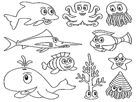 Coloring Book Pages Of Sea Animals | free printable ocean coloring pages for kids