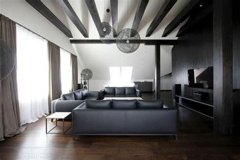 Appartement Noir Et Blanc by Appartement Moderne Am 233 Nag 233 Dans Les Combles D Un Immeuble
