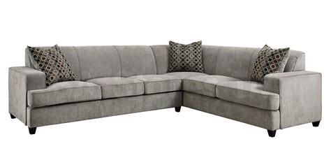 tess modern grey sectional sofa with sleeper sectional