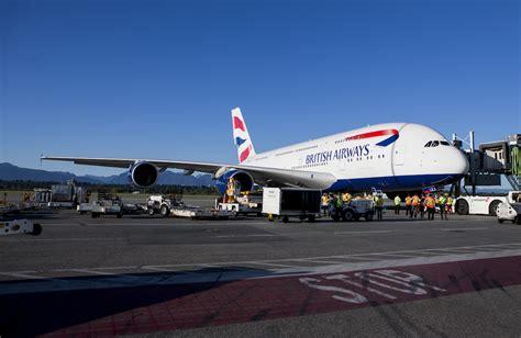 emirates yvr british airways airbus a380 begins service to vancouver