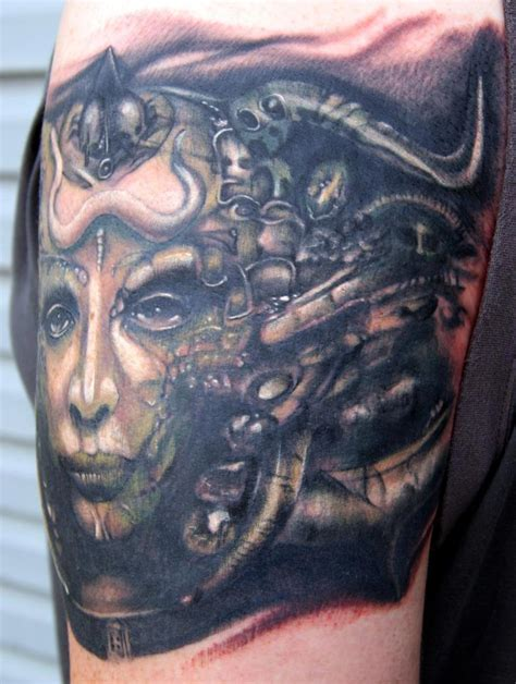 hr giger tattoo side view of hr giger by bubbabrado on deviantart