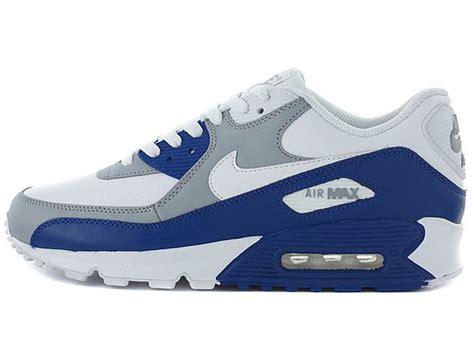 Nike Air Max 90 Grey Blue nike air max 90 si white grey blue sneakers addict