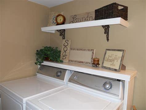diy shelf around the washer dryer diy