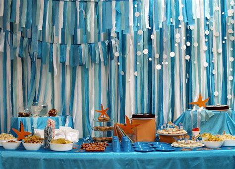 Sea Themed Curtains Decor Birthday Theme Sea Birthday Sea Sea
