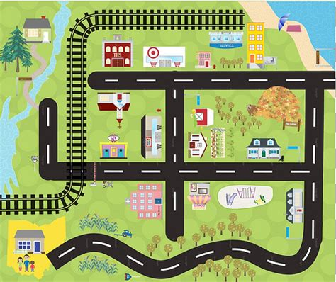 printable road play mat here only presents custom car mats